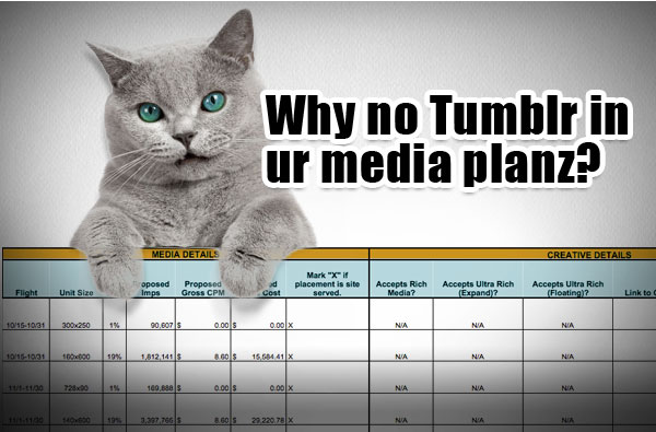 Why no Tumblr in ur media planz?